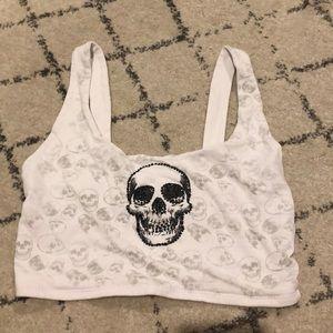 3 for 25🥳 Skull Crop Top